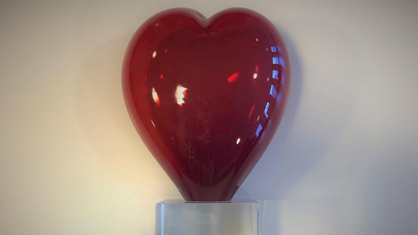 STIL-priset i form av ett rött glashjärta