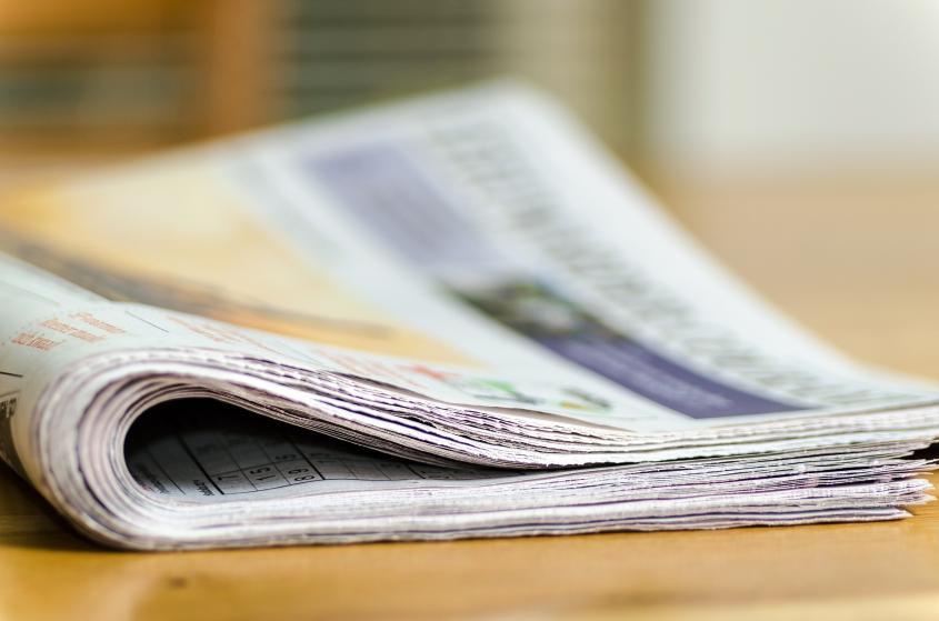 Bild på dagstidning